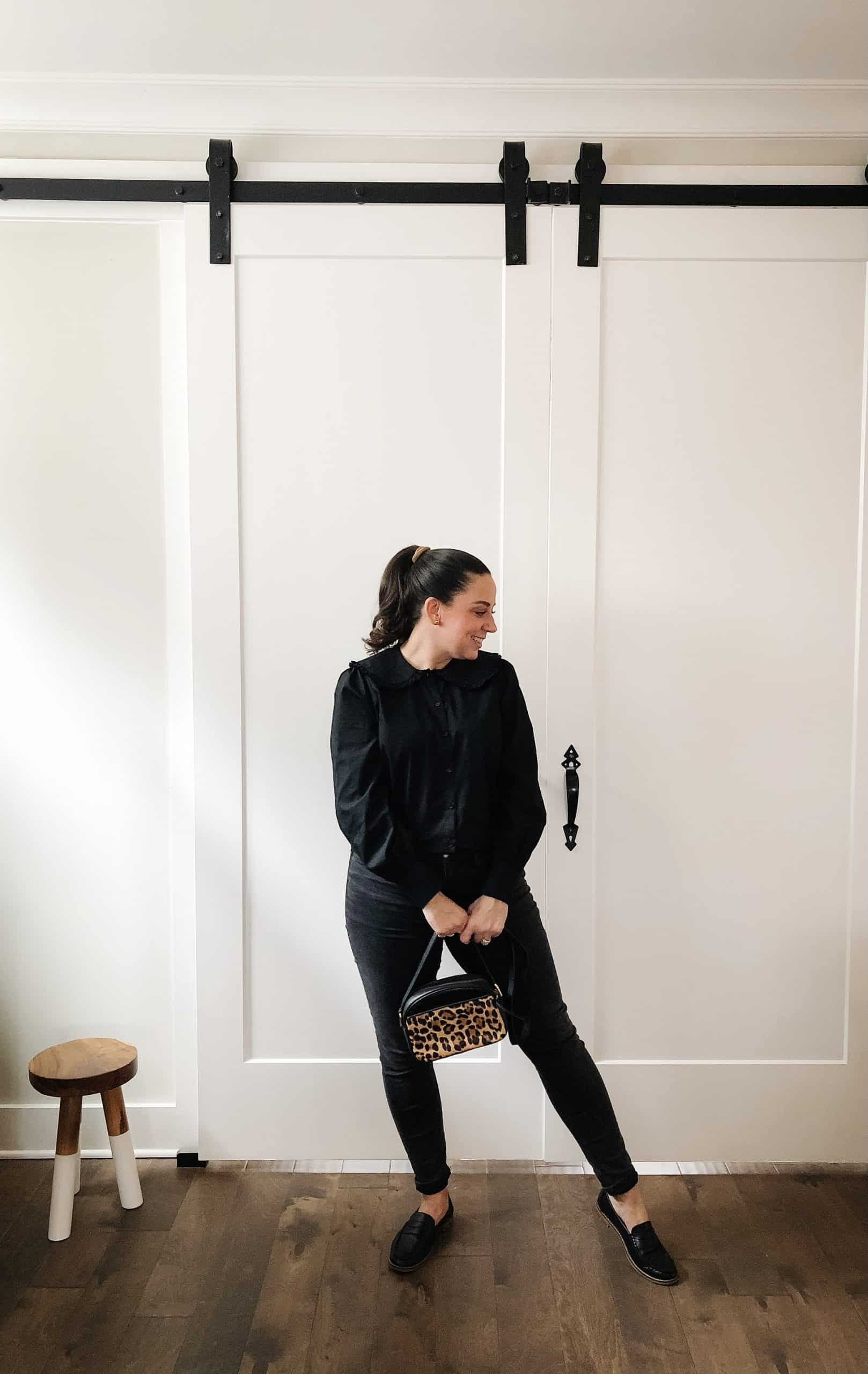 5 Outfits with Black Jeans and Penny Loafers